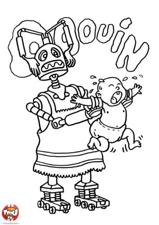 Coloriage: Robot bébé