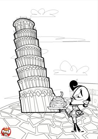 Coloriage: La tour de Pise