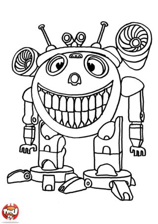 Coloriage: Robot rigolo