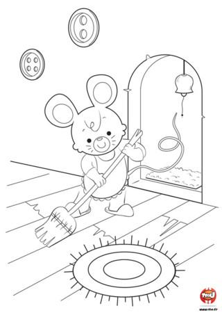 Pendant que le chat dort, la souris fait le ménage ! Et toi tu peux en profiter pour imprimer et remplir ce coloriage de souris gratuit sur TFou.fr. Maman souris profite du fait que ces petits soient sortis pour ranger un peu la maison. A cet âge-là, ils sont très énergiques et ne font pas forcément attention au désordre qu'ils peuvent mettre. Heureusement que maman souris est là. En un coup de balai, hop, la maison est rangée. Tu as envie de rendre ce coloriage encore plus beau ? C'est simple ! Va sur TFou.fr, imprime gratuitement ce coloriage de souris pour enfant et colorie-le. Bleu, rouge, jaune... à toi de jouer ! C'est toi l'artiste !