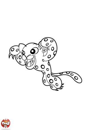 Coloriage: Panthère bondissante