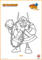 Coloriage_Vic le viking_Sven
