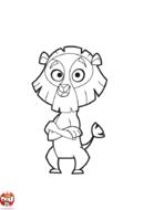 Lion les bras croisés
