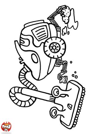Coloriage: Robot aspirateur