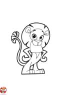 Lion qui prend la pose
