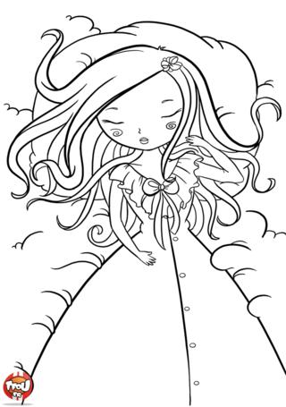 Coloriage: Belle au bois dormant