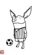 Olivia joue au foot