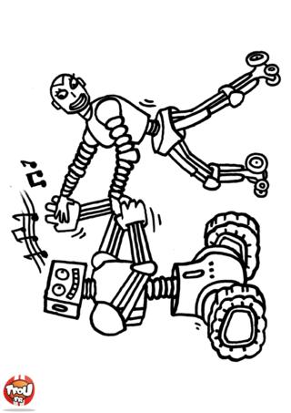 Coloriage: Robots qui dansent