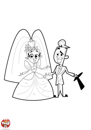 Coloriage: Les mariés