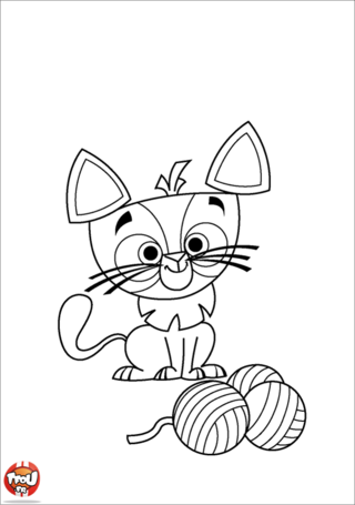 Coloriage: Chat