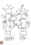 Martiens qui font des bulles