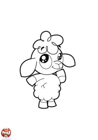 Coloriage: Petit mouton
