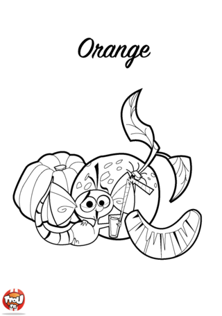 Coloriage: Orange