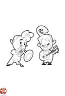 Trompette et banjo