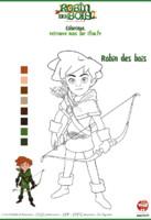 coloriage Robin des bois - Robin