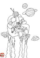 Robot dans son fauteuil