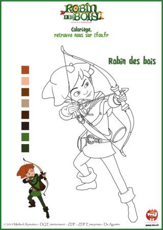 Imprime gratuitement ce coloriage Robin des Bois sur TFou.fr. Sur ce coloriage, Robin est en train de tendre son arc pour tirer une flèche. Hé oui, comme tu le sais Robin des Bois est un excellent archer. Il a à sa disposition toutes sortes de flèches : les flèches à poil à gratter, les flèches boomerang etc. pour faire échouer les manigances du Prince Jean ! Imprime gratuitement ce super coloriage pour enfants, colorie-le et aide Robin à atteindre sa cible. Robin compte sur toi !