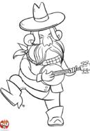 Cowboy au banjo