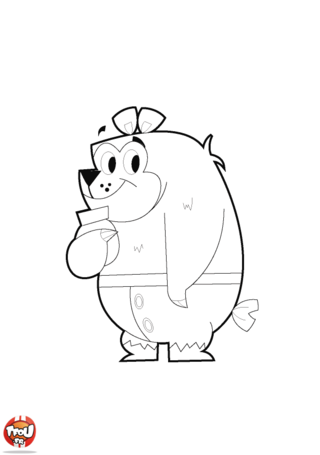 Coloriage: Gros ours