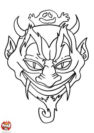 Coloriage: Masque de monstre