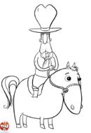 Cowboy au chapeau