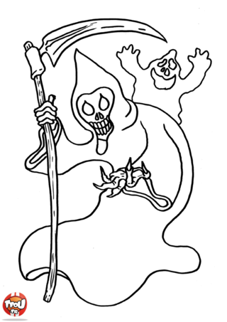 Coloriage: Monstres d'halloween
