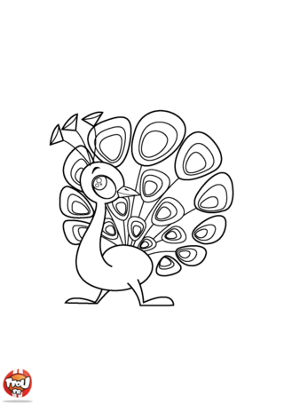 Coloriage: Paon