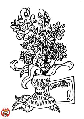 Recevoir des fleurs fait toujours plaisir. Imprime sur TFou.fr et colorie ce joli bouquet de fleurs que tu pourras offrir à ta mamie pour la fête des grand-mère.
