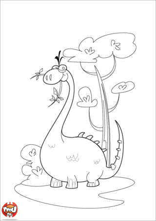 Coloriage: Grand diplodocus