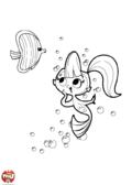 Sirène et poisson