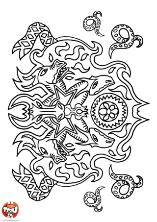 Coloriage: Dragons et serpents