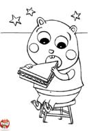 Hamster mange son sandwich