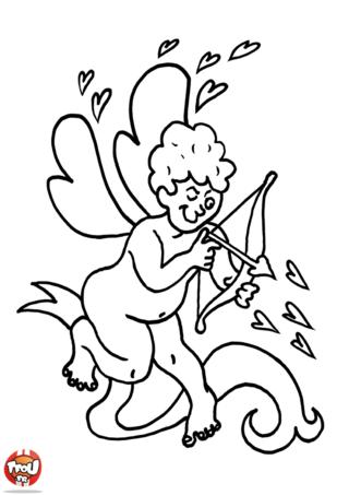 Coloriage: Cupidon