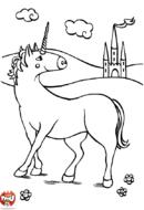 La licorne devant le château