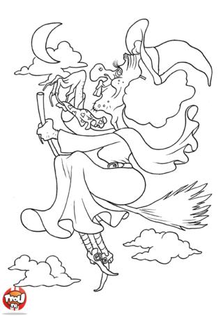Coloriage: Vilaine sorcière