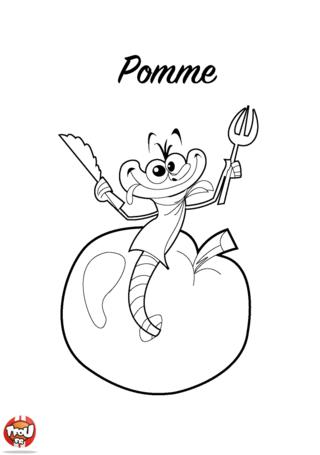 Coloriage: Pomme