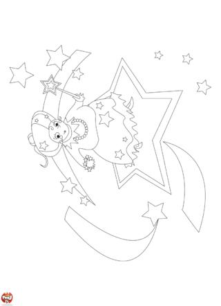 Coloriage: Fée aux étoiles