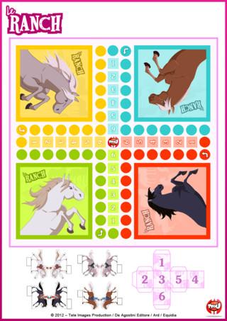 Activité: Imprime gratuitement ce super jeu des petits chevaux le Ranch pour t'amuser avec tous tes amis !