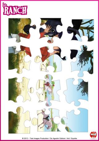 Activité: Imprime vite ton puzzle spécial le Ranch et colle-le sur un support cartonné pour jouer et rejouer avec tes héros préférés !