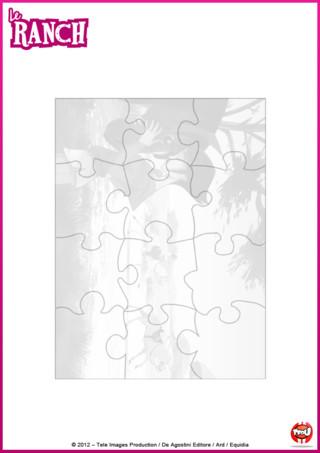 Imprime vite le complément du jeu du puzzle ! C'est le plateau qui te permettra de placer correctement les pièces de ton puzzle le Ranch