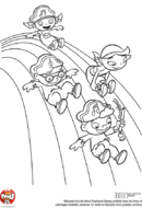 Les petits Einstein glissent sur l'arc-en-ciel