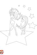 Licorne et étoiles