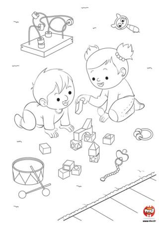 Bébé s'est fait une amie au parc ! A l'aide de sa nouvelle amie, bébé joue à fabriquer un château. Toi aussi tu aimes les châteaux ? Participe à la construction du château de bébé en ajoutant de magnifiques couleurs. Tu peux imprimer gratuitement ce coloriage de bébé en allant sur TFou.fr. Équipe-toi de tes plus beaux crayons de couleurs ou feutres et amuse-toi. Si les coloriages de bébé te plaisent, tu peux en trouver d'autres sur notre site TFou.fr.