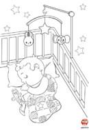 Coloriage-Bébé fait dodo