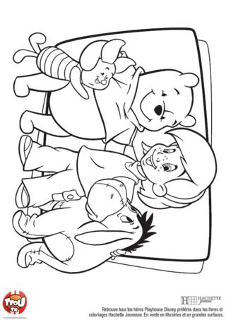 Coloriage: Winnie et ses amis