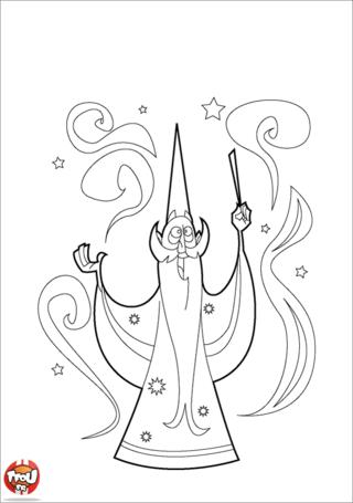 Coloriage: Magicien barbu