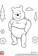 Winnie dans la forêt