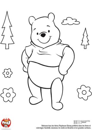 Coloriage: Winnie dans la forêt