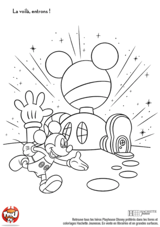 Coloriage: La maison de Mickey