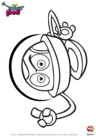 Coloriage : Amuse toi à colorier le robot vendredi à l'aide de tes crayons de couleurs ou de tes feutres.
